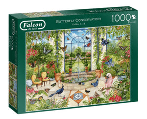 The Butterfly Conservatory 1000 Piece Puzzle by Falcon