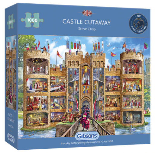 Castle Cutaway 1000 Piece Puzzle By Gibsons