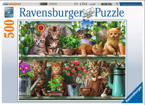 Cats On The Shelf 500 Piece Puzzle by Ravensburger