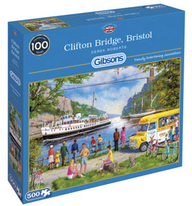 Clifton Bridge, Bristol 500 Piece Puzzle By Gibsons