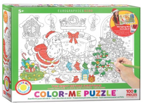 Christmas Colour Me 100 Piece Puzzle by Eurographics
