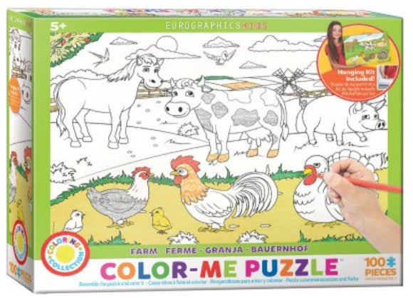 Farm Colour Me 100 Piece Puzzle by Eurographics