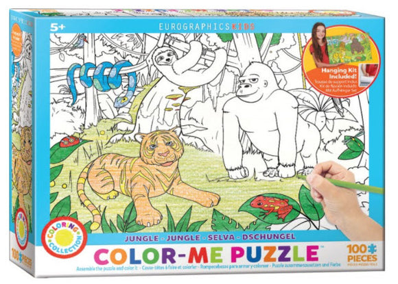 Jungle Colour Me 100 Piece Puzzle by Eurographics