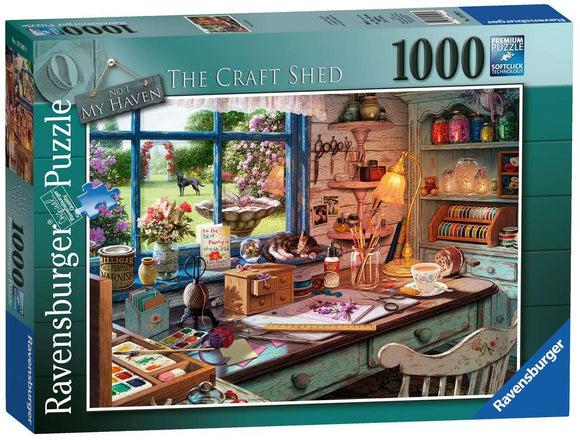 My Haven No.1 - The Craft Shed 1000 Piece Puzzle by Ravensburger