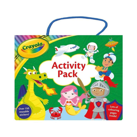 Crayola Activity Pack (200 Stickers+2 Colouring Books)