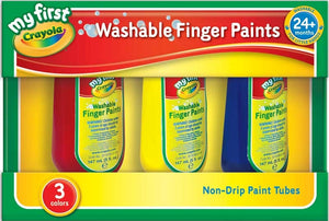 CRAYOLA 3 WASHABLE FINGER PAINTS