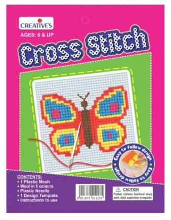 Creative Cross Stitch Butterfly (Suitable for 6 years+)