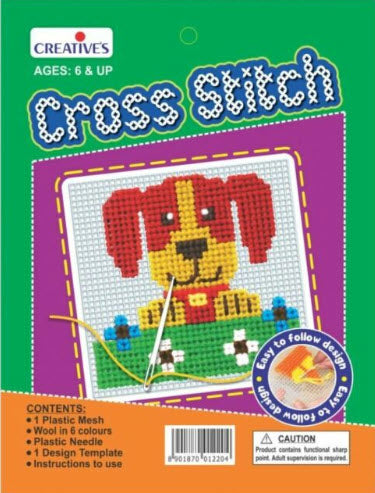 Creative Cross Stitch Dog (Suitable for 6 Years+)