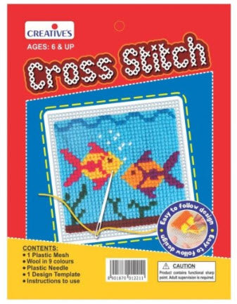 Creative Cross Stitch Fish (Suitable for 6 years+)