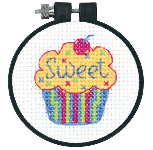 Cupcakes Dimensions Learn-A-Craft Counted Cross Stitch Kit