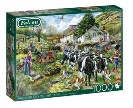 A Day On The Farm 1000 Piece Puzzle by Falcon