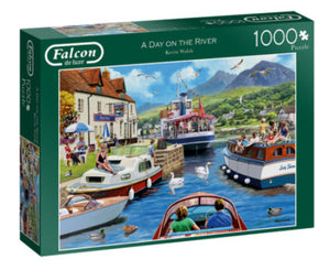 A Day On The River 1000 Piece Puzzle by Falcon