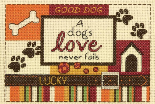 A Dog's Love Counted Cross Stitch by Dimensions