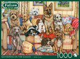 Gathering On The Couch 1000 Piece Puzzle by Falcon