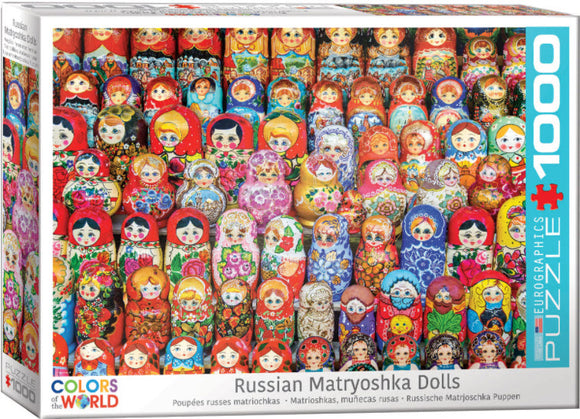 Russian Matryoshka Dolls 1000 Piece Puzzle by Eurographics