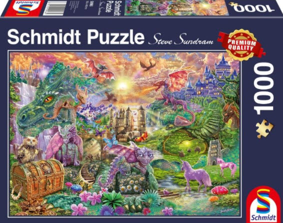 **NEW** Enchanted Dragon Land 1000 Piece Puzzle by Schmidt