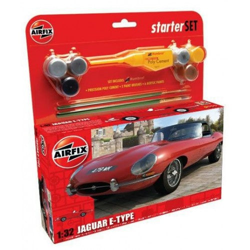 Airfix Starter Kit Jaguar E-Type 1:32 Scale