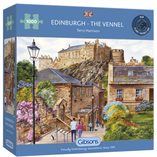 Edinburgh-The Vennel 1000 Piece Puzzle By Gibsons