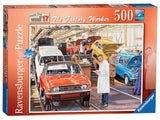 Happy Days at Work The Factory Worker by Trevor Mitchell 500 Piece Puzzle by Ravensburger