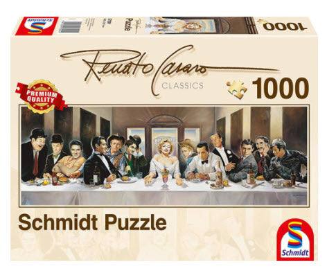 Renato Casaro The Famous Dinner 1000 Piece Puzzle by Schmidt