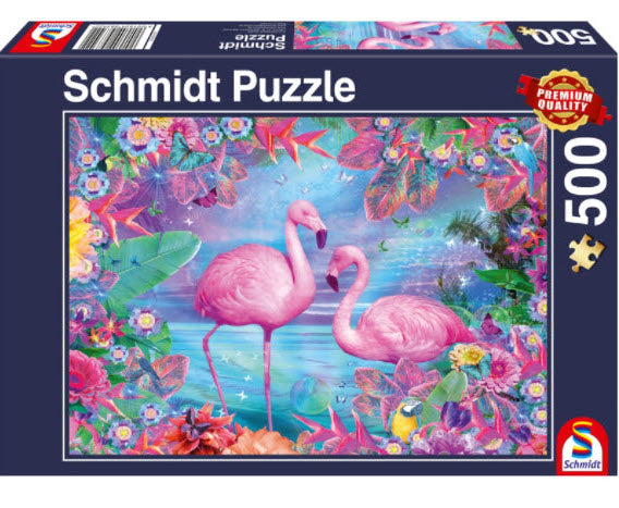 Flamingos 500 Piece Puzzle by Schmidt