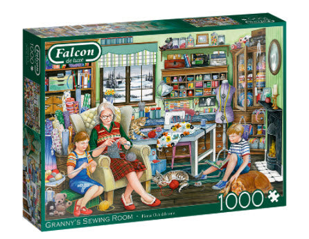 Grannys Sewing Room 1000 Piece Puzzle by Falcon