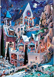 Castle Of Horror 2000 Piece Triangular Puzzle by Heye Puzzles