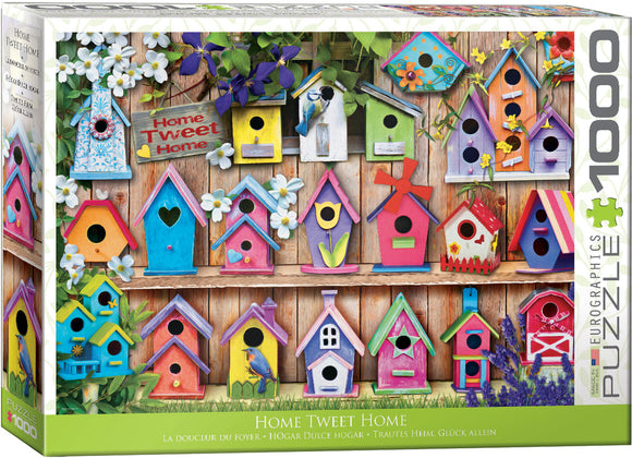 Home Tweet Home (Birdhouses) 1000 Piece Puzzle by Eurographics