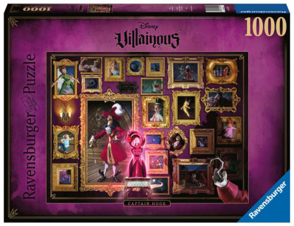 Disney Villainous Captain Hook 1000 Piece Puzzle by Ravensburger