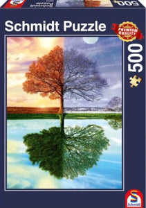 The Seasons Tree 500 Piece Puzzle by Schmidt