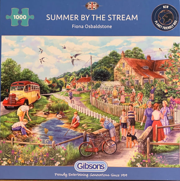 Summer By The Stream 1000 Piece Puzzle By Gibsons
