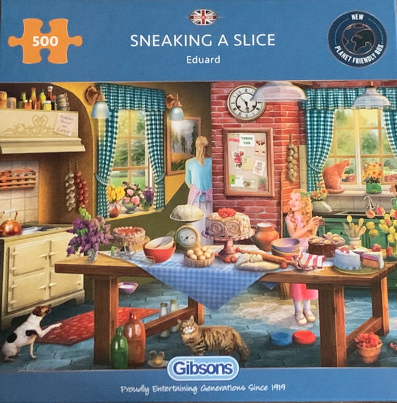 Sneaking a Slice 500 Puzzle By Gibsons