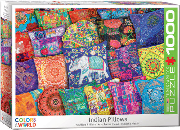 Indian Pillows 1000 Piece Puzzle by Eurographics