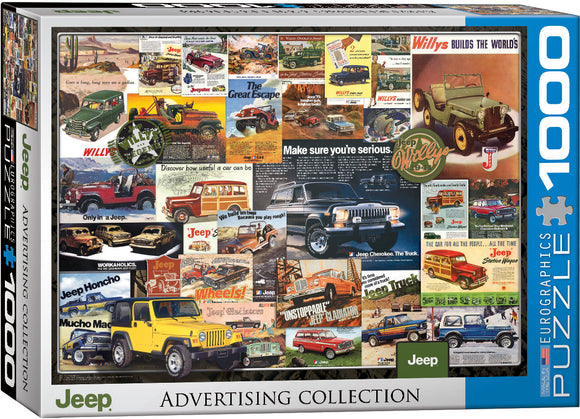 Jeep Vintage Advertising 1000 Piece Puzzle by Eurographics