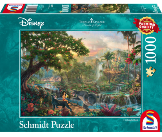 Thomas Kinkade – Disney: The Jungle Book 1000 Piece Puzzle by Schmidt