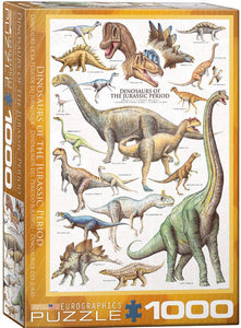 Dinosaurs of the Jurassic Period 1000 Piece Puzzle by Eurographics