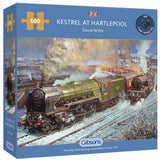 Kestrel At Hartlepool 500 Piece Puzzle By Gibsons