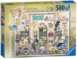 Crazy Cats Vintage Knit One, Purrl One 500 Piece Puzzle by Ravensburger
