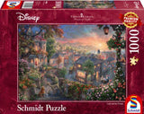 Thomas Kinkade – Disney: Lady and the Tramp 1000 Piece Puzzle by Schmidt