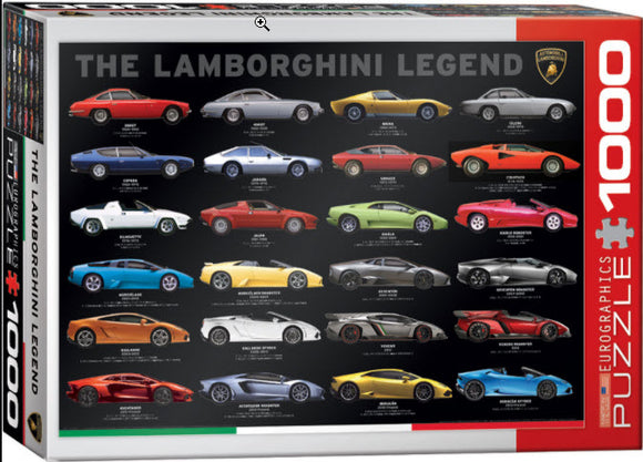 The Lamborghini Legend 1000 Piece Puzzle by Eurographics