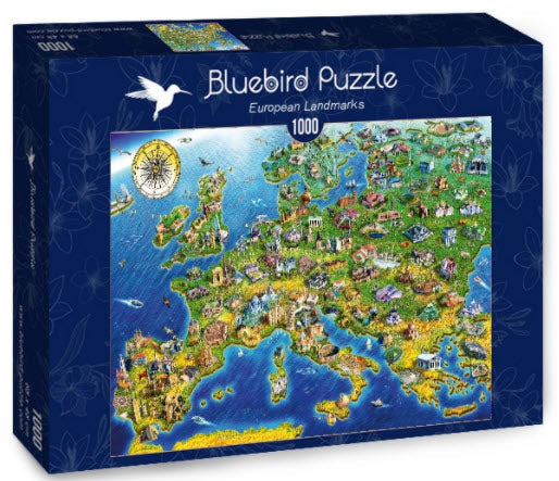 European Landmarks 1,000 Piece Puzzle by Bluebird Puzzle