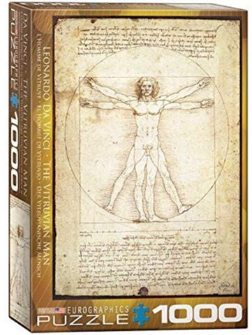 The Vitruvian Man by Leonard de Vinci 1000 Piece Puzzle by Eurographics