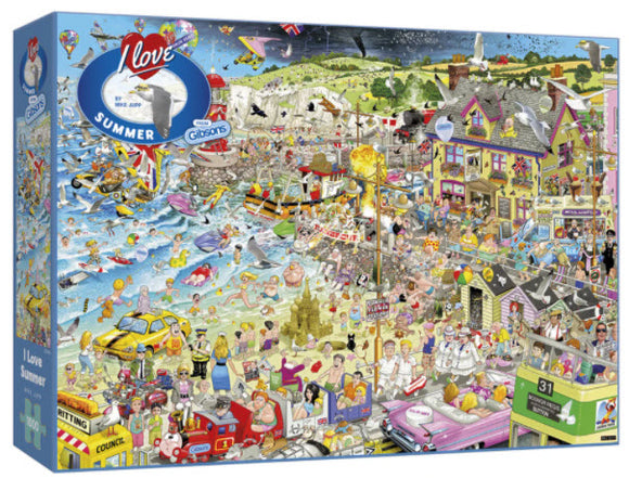 I Love Summer 1000 Piece Puzzle By Gibsons