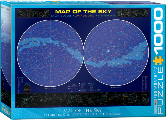 Map Of Sky 1000 Piece Puzzle by Eurographics