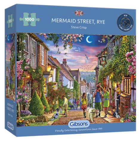 Mermaid Street, Rye 1000 Piece Puzzle By Gibsons