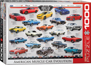 American Muscle Car Evolution 1000 Piece Puzzle by Eurographics