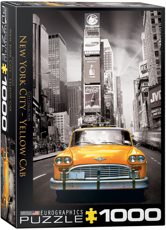New York Yellow Cab 1000 Piece Puzzle by Eurographics