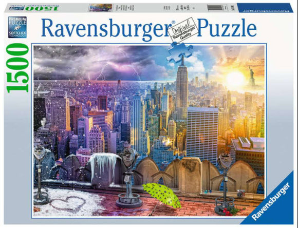 New York Summer and Winter 1500 Piece Puzzle by Ravensburger