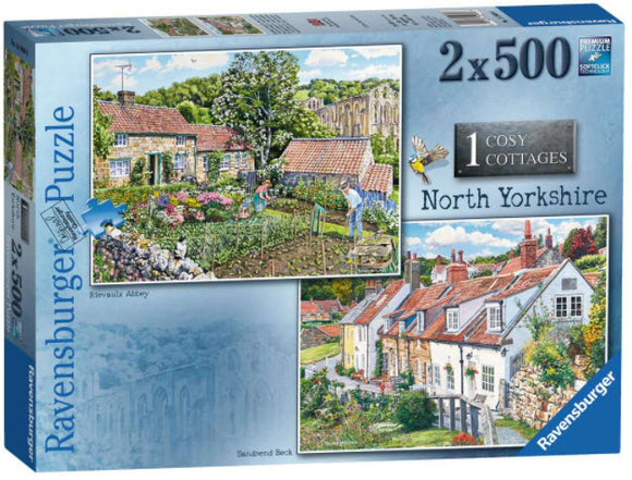 Cosy Cottages North Yorkshire 2X 500 Piece Puzzles by Ravensburger