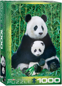 Panda and Baby 1000 Piece Puzzle by Eurographics